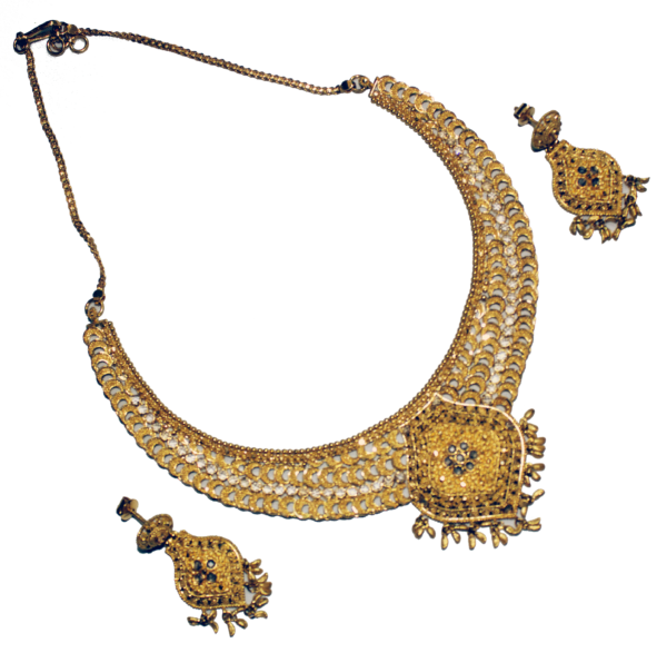 22ct Gold Necklace and Earrings
