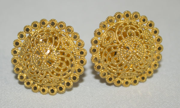 22ct Gold Filigree Stud Earrings